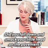 Did you fall down and smack your little head on the pavement?