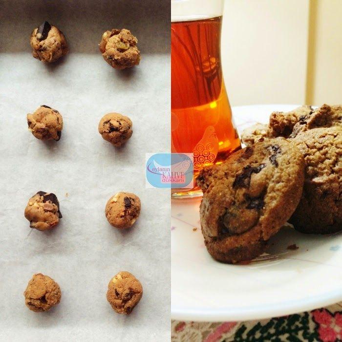 çikolata parçalı kurabiye,keçiboynuzu pekmezli kurabiye, besleyici kurabiye, kuru üzümlü kurabiye, Amerikan kurabiye