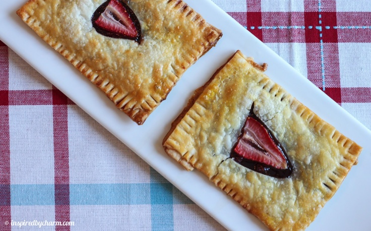 Homemade Strawberry Nutella Poptarts // Made by Inspired by Charm // Created by the Novice Chef