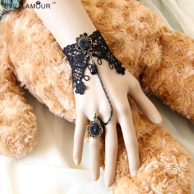 Min.order is $15 (mix order) DIY vintage lace bracelet & bangle with ring bridesmaid wrist handmade accessories fashion gift US $3.30