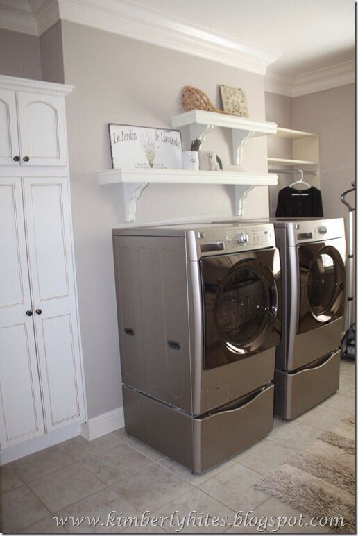 Laundry Room Decor Ideas: Wall Color Versatile Gray Sherwin Williams (With Images