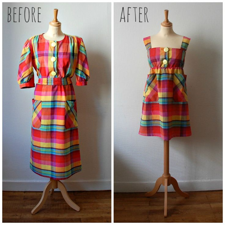 Vintage Refashion Plaid Dress, Women's Size XS/S by CamilleVintage on Etsy