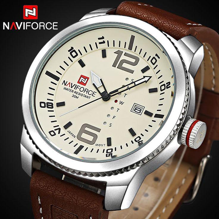 2016 Relógios do tipo do luxo dos homens novos de NAVIFORCE Relógio analógico dos homens da forma do relógio de quartzo dos homens Relógios dos homens do exército do relógio de pulso
