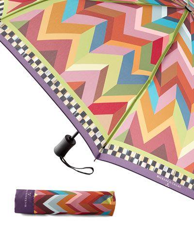 H7Q4E MacKenzie-Childs Kaleidoscope Travel Umbrella