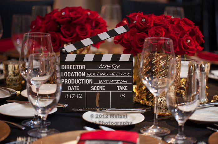 Hollywood Red Carpet Theme Bat Mitzvah Party | Mazelmoments.com