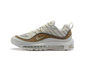 e2b31c86edf Mens Shoes Nike Air Max 98 Snakeskin Exotic Skin Sail White Sepia Stone AO9380  100