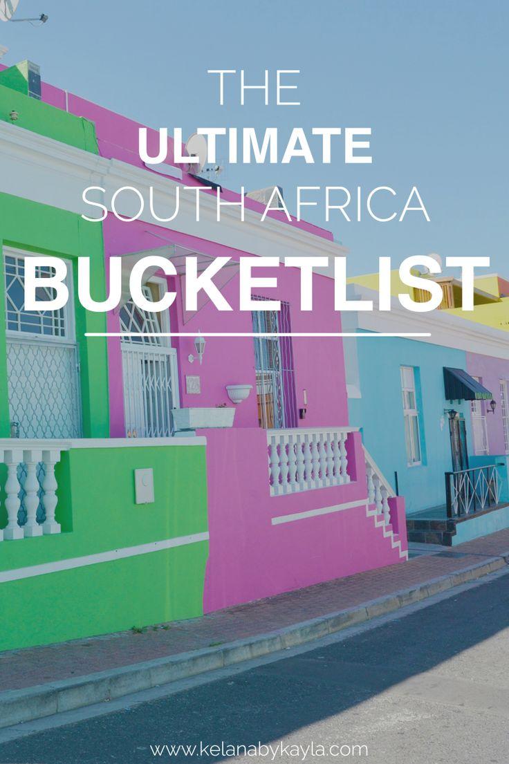 South Africa Bucketlist