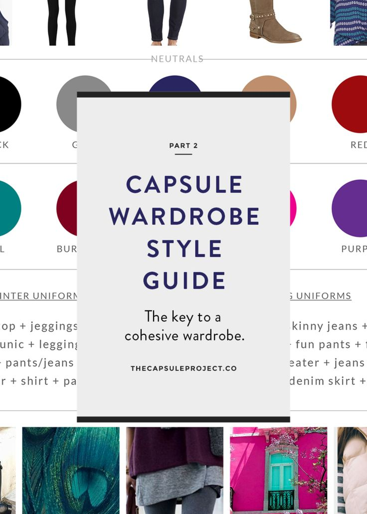 Entire website about capsule wardrobes