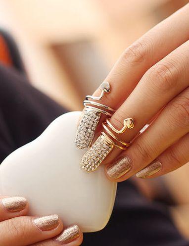 Crystal Women Nail Rings $9.99USD