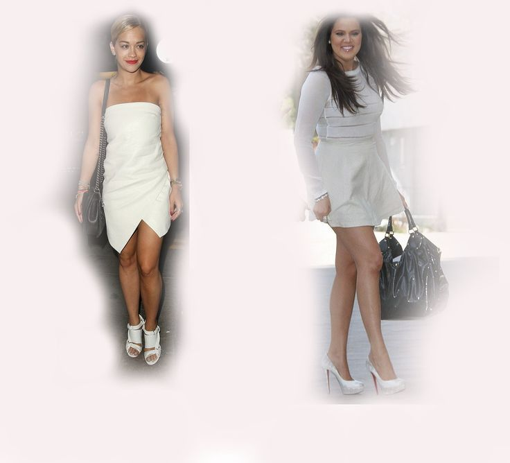 white summer dress, Rita Ora VS Khloe Kardashian Odom fashion diva who-wore-it-better celeb celebrity