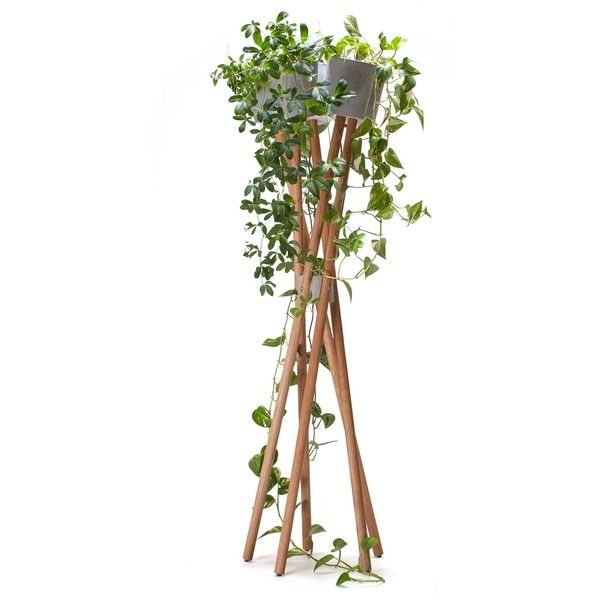 URBANATURE Hochgarten Flowerpot - grey pots ($315) ❤ liked on Polyvore featuring home, outdoors, outdoor decor, multi, outdoor sun decor, outdoor garden pots, outdoor flower pots and herb pots