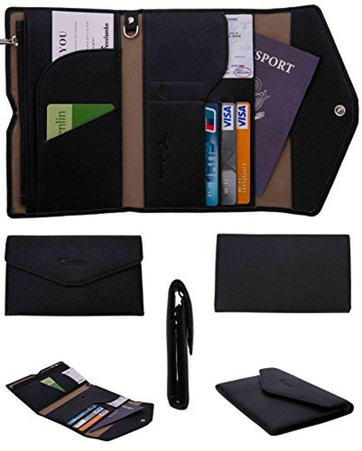 Travelambo Rfid Blocking Passport Holder Wallet & Travel Wallet Envelope (black) - Brought to you by Avarsha.com