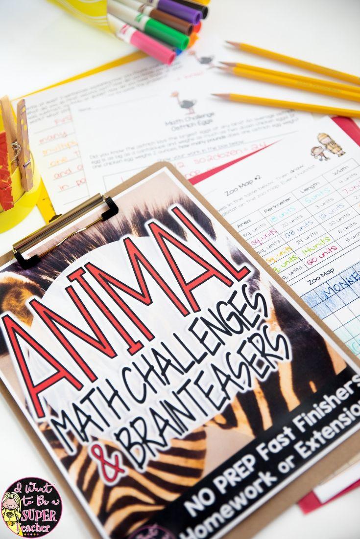 Math Enrichment Math Challenges Animal Theme Math Worksheets Math Challenge Math Enrichment Math Worksheets [ 1102 x 735 Pixel ]