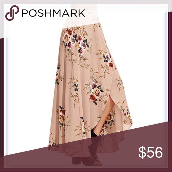 🆕 Rose Garden Khaki / Tan Maxi Skirt ➖Size: small, medium, large , XL/1X    ❌NO TRADE.  434809 Skirts Maxi