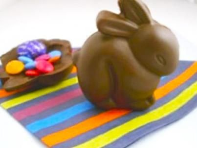 Make your own Easter bunnies with this chocolate rabbit recipe. Easy to make, you can also pop an Easter egg inside before you seal the rabbit together for an extra Easter surprise!