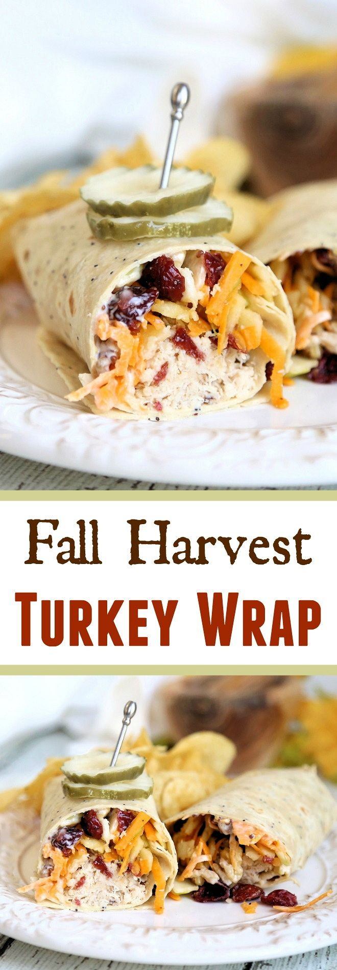 New England Harvest Turkey Wrap featuring  seasonal produce and Antibiotic Free Maple Honey Turkey  from our sponsor McKenzie Deli