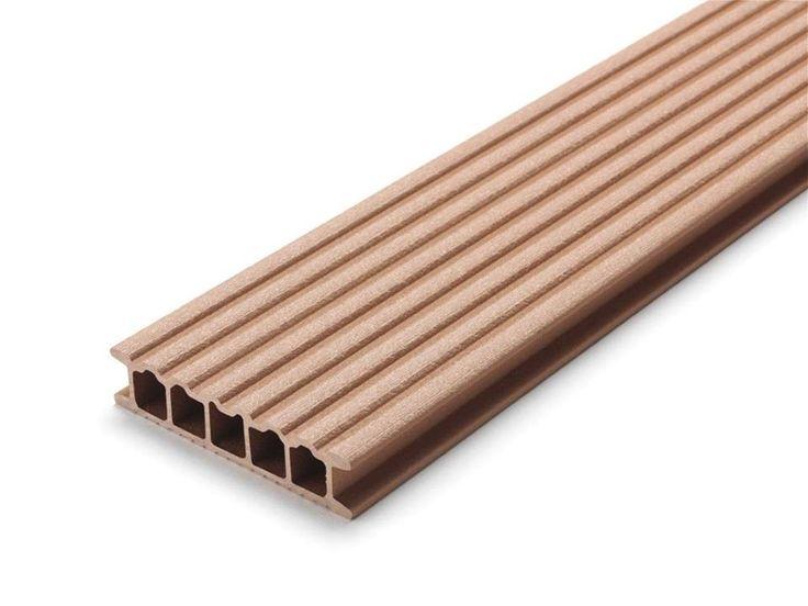 Profil deck wpc relazzo puro culoare ambra. Modele de Deck WPC Rehau compozit pentru terse exterioare si piscine, comercializat de catre Top Design Flooring are o durabilitate crescuta, pe de o parte datorita compozitiei avand 60% fibra lemnoasa, 35% polietilena de inalta densitate si 5% aditivi, dar si datorita grosimii straturilor de material compozit, greutatea pe mentrul patrat fiind mai mare.