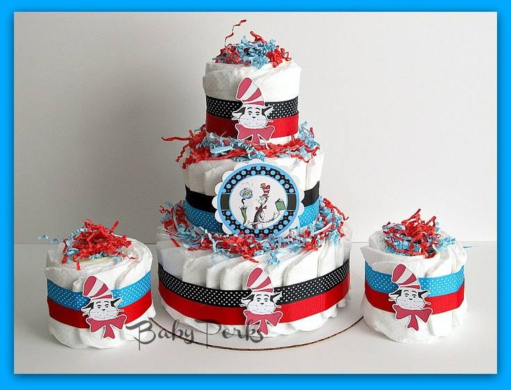 baby shower cat dr seuss baby shower baby shower diaper cakes baby
