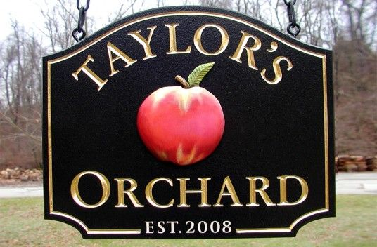 Taylor's Orchard Farm Sign / Danthonia Designs