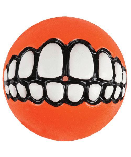 ROGZ GRINZ BALL - ORANGE. Available from www.nuzzle.co.za