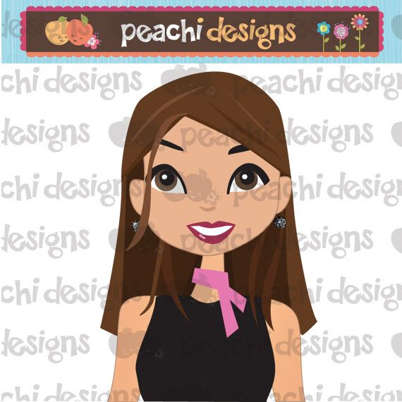 Girl Face Avatar Profile Picture of cute, pretty girl with long brown hair and big brown eyes.