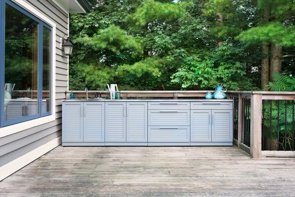 Outdoor Kitchen Aluminum 3 Piece Cabinet Set Outdoor Modular Outdoor Kitchens Outdoor Kitchen
