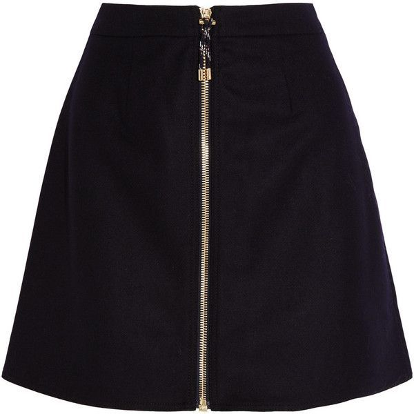 Acne Studios Prisca wool-blend twill mini skirt found on Polyvore featuring  skirts, mini