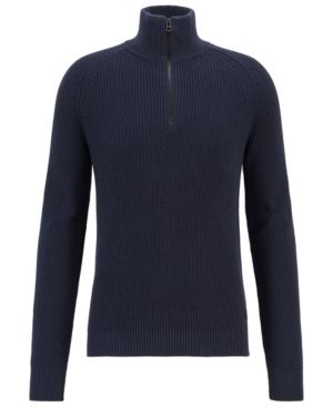 2b717a88028 HUGO BOSS BOSS MEN'S HALF-ZIP COTTON SWEATER. #hugoboss #cloth ...