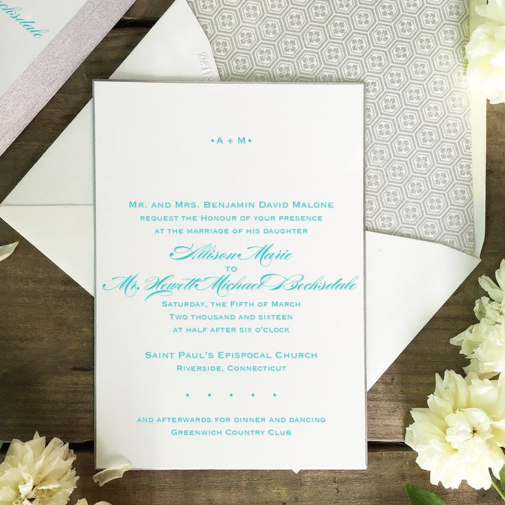 in wedding invitations is the man s name first%0A DIY engraved or letterpress wedding invitation on extra thick     lb        gsm cotton paper  finished with a silver beveled  and paired with a lined
