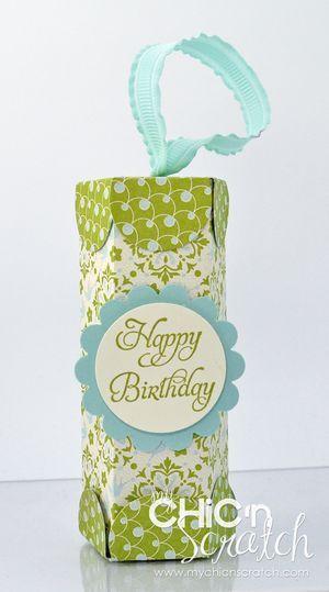 cuteBags Tags Boxes Envelopes, Birthday Treats, Birthday Gift, Gift Ideas, Stampin Up, Treats Tube, Paper Crafts, Gift Tube, Big Shot