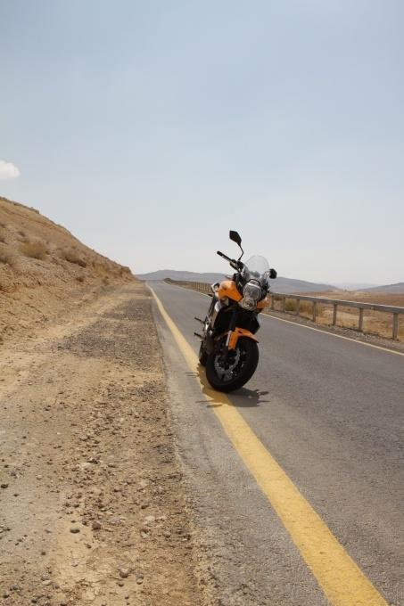 Negev Desert with Kawasaki Versys