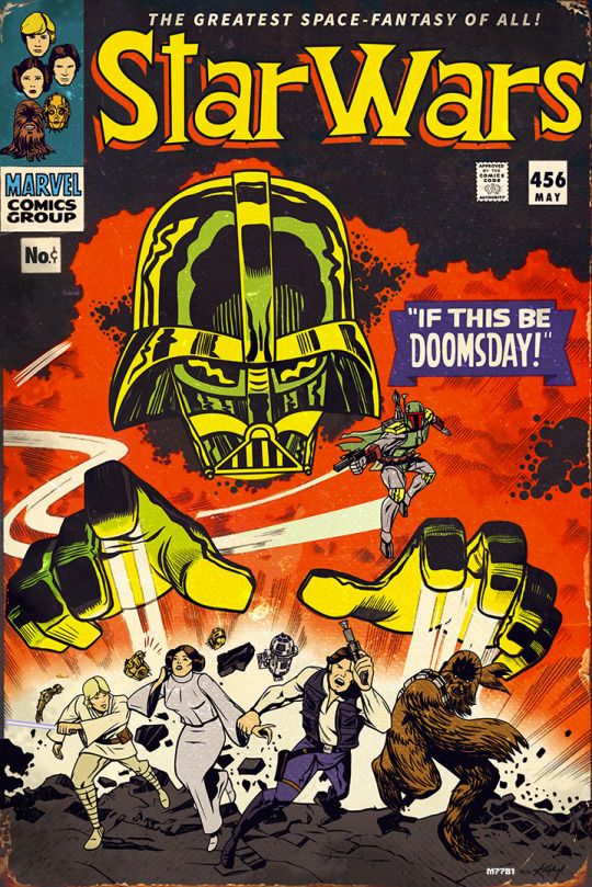 [Fan Art] Star Wars comic book cover as if done by Jack Kirby for Marvel Comics' Silver Age - Created by Marco D'Alfonso
