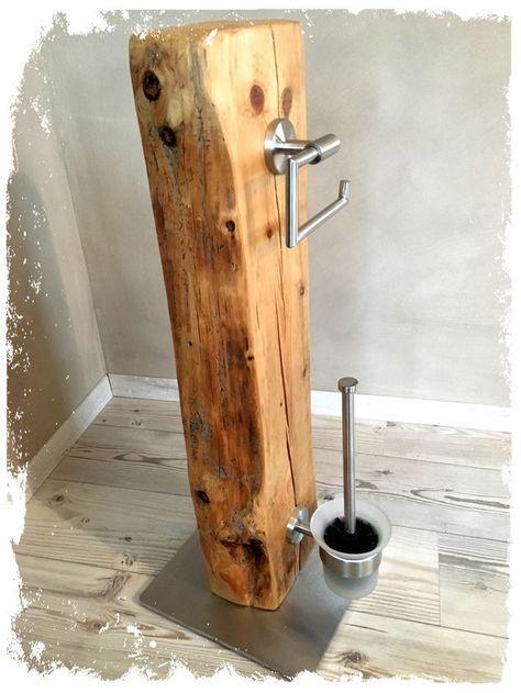 Zum Verkauf steht hier ein absolutes Unikat aus dem Hause **KonzeptFrei**. Dieses WC-Set wurde in Handarbeit von uns hergestellt. -Recyceltes Holz aus altem Fachwerkhaus (geschliffen, mehrfach