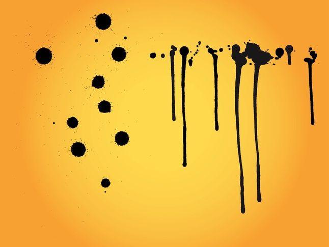 Splatter Patterns vector free