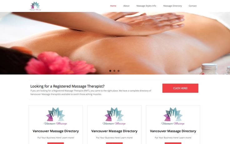 Vancouver Massage is a directory for Registered Massage Therapists in the Vancouver area. http://vancouver-massage.com