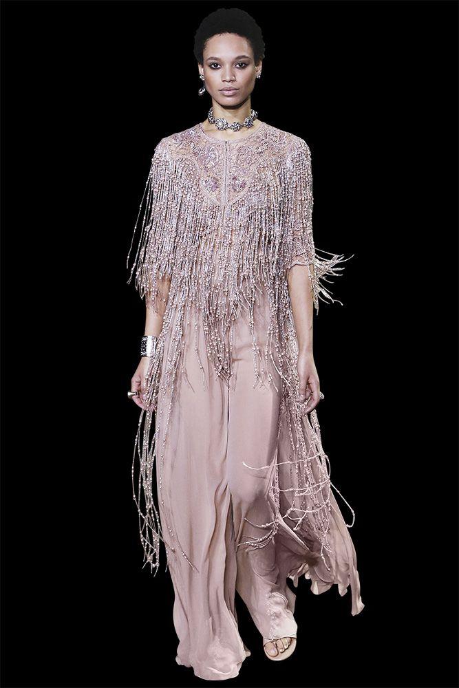 Jasmine long macrame dress with a