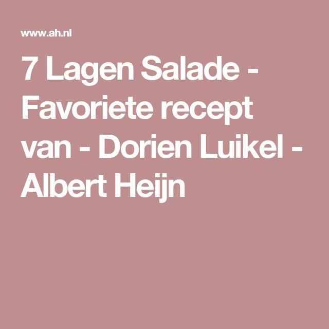 7 Lagen Salade - Favoriete recept van - Dorien Luikel - Albert Heijn