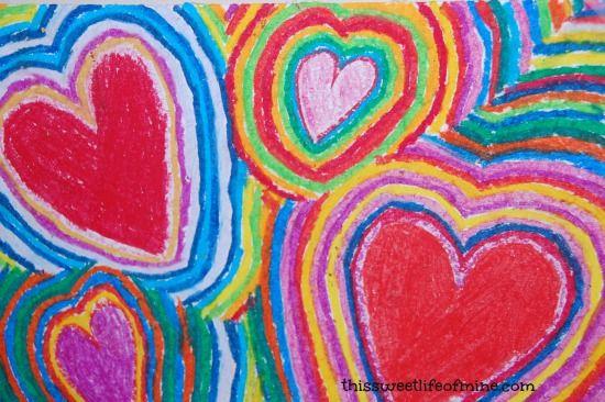 Fantastic #valentinesday art project via @Tara Mitchell #homeschool #artprojects