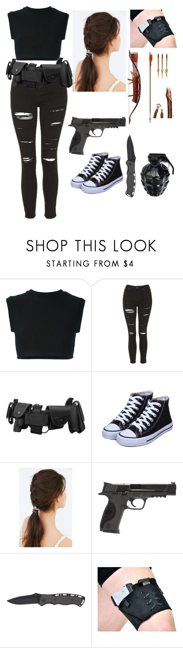 """""""undercover agent"""" by unicornsparklepoop ❤ liked on Polyvore featuring adidas Originals, Topshop, JEM, Smith & Wesson and MollaSpace"""