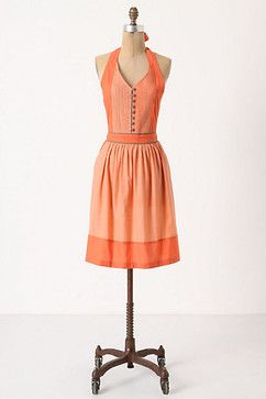 Mellow Coral Apron - contemporary - aprons - Anthropologie