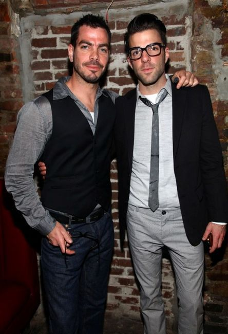 """Joe Quinto and Zachary Quinto at the after party of """"Love The Beast"""" during the 2009 Tribeca Film Festival."""