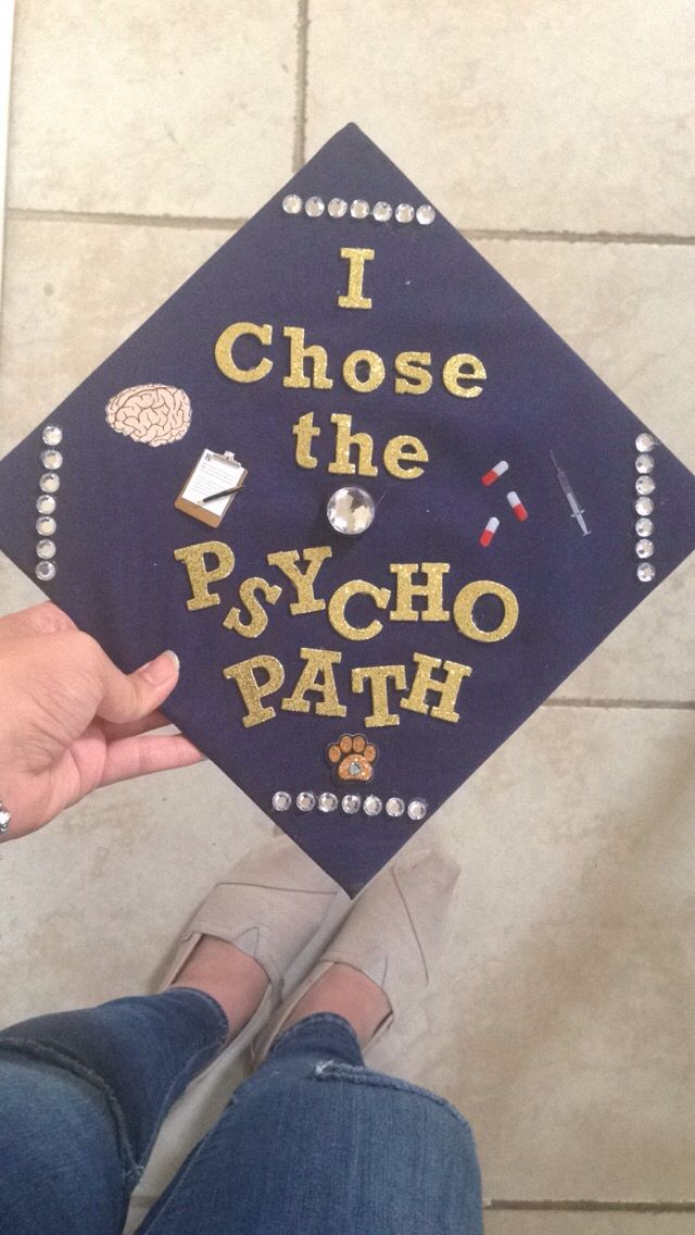 Graduation Cap Idea #psychology #graduation