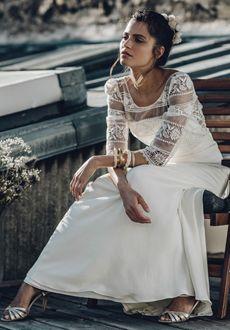 Robe de mariée Laure de Sagazan modèle Perec                                                                                                                                                                                 More