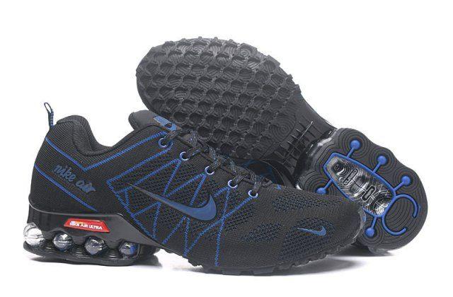 9ef9128f0c545 Nike Shox Flyknit Black Dark Blue Womens Running Shoes NIKE ...