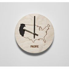 """8"""" Pacific Time Zone Clock"""