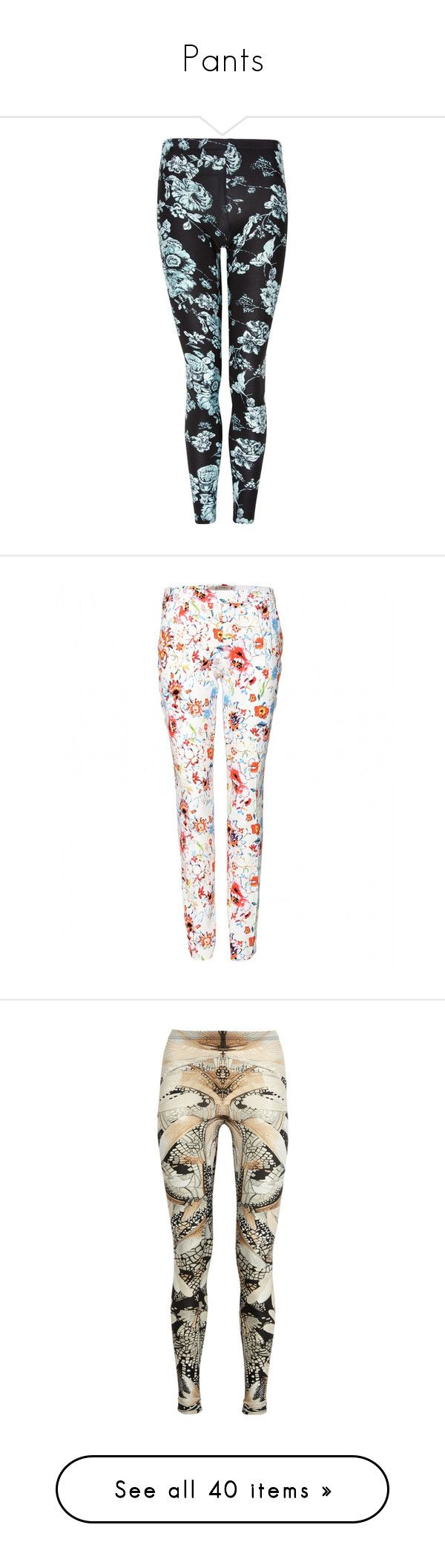 """Pants"" by dani-chic143 ❤ liked on Polyvore featuring pants, leggings, bottoms, jeans, calças, mint, tribal print leggings, floral trousers, flower print leggings and full tilt"