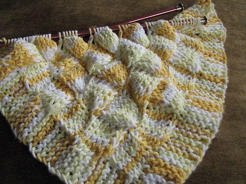Entrelac Knitting Dishcloth Pattern : Pin by Mirjam Oosterveld on Entrelac Pinterest