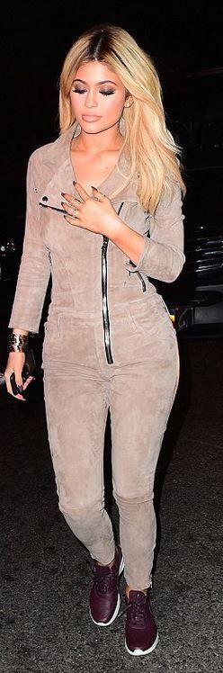 Kylie Jenner: Jumpsuit – Rta  Shoes – Nike  Bracelet – Cartier