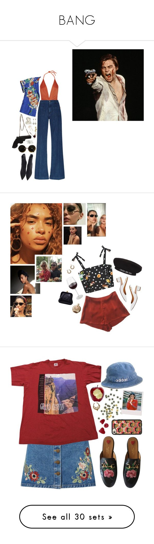 """""""BANG"""" by pretty-basic ❤ liked on Polyvore featuring prettybasic, PBcollection, ADRIANA DEGREAS, Gatsby, The Seafarer, Scotch & Soda, Yves Saint Laurent, Disney Couture, Gianvito Rossi and The Row"""