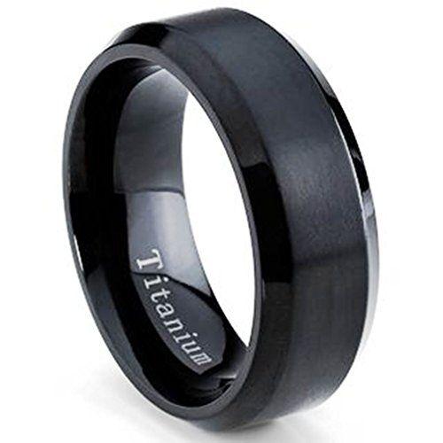Oliveti Men's Black Plated Titanium Comfort Fit Wedding Band (8mm)- Size 10 Oliveti http://www.amazon.com/dp/B00QXGSZAM/ref=cm_sw_r_pi_dp_P2xJvb0FX47S6